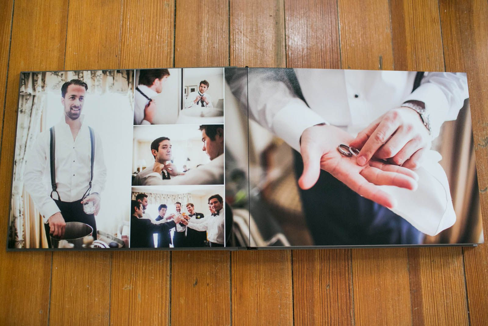 Boston flush mount wedding album designer Zev Fisher creates