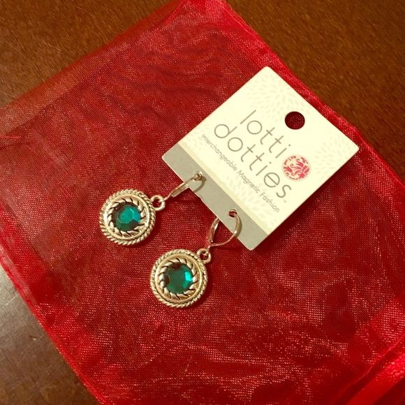 Lottie Dottie magnetic earrings Green interchangeable magnetic earrings Lottie Dotties Jewelry Earrings