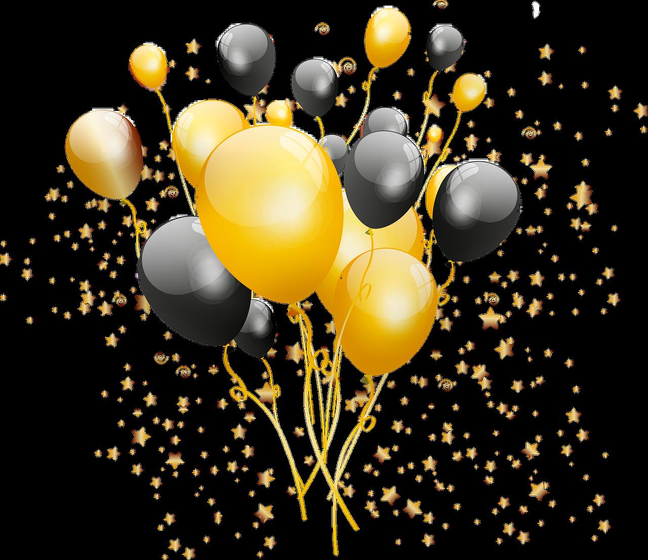 Kostenloses Bild Auf Pixabay Gold Und Schwarze Ballons Konfetti In 2020 Schwarze Luftballons Kostenlose Bilder Konfetti