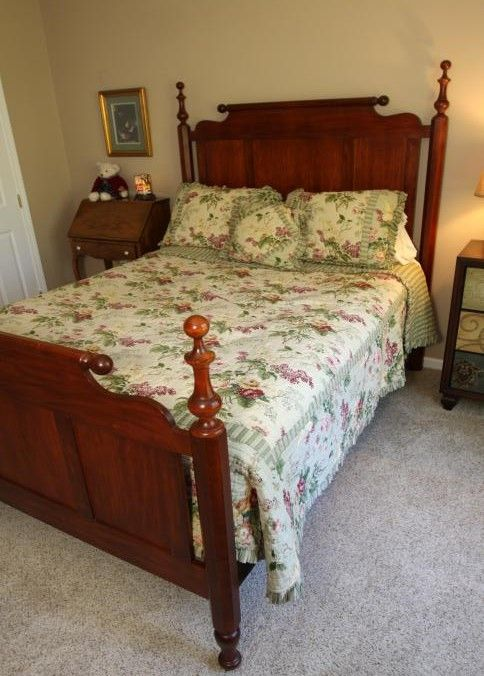 Pennsylvania House queen size bed frame with a paneled headboard ...