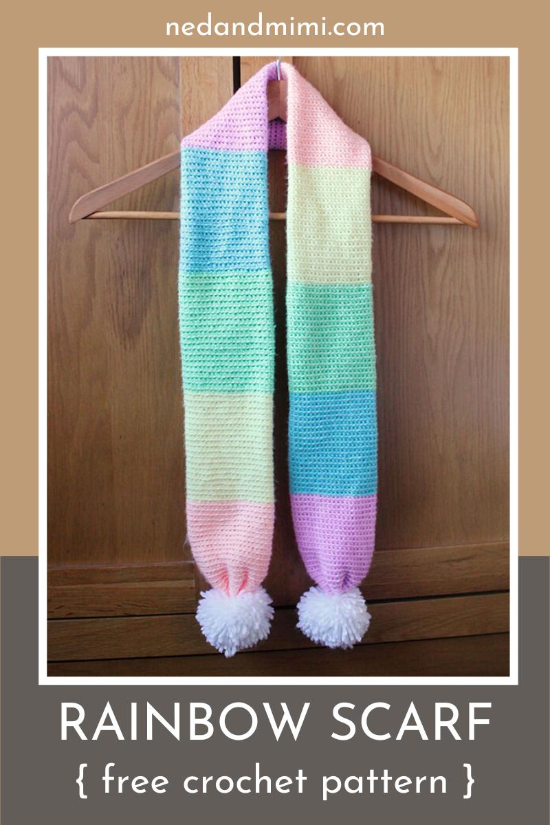 Photo of Rainbow Scarf Free Crochet Pattern