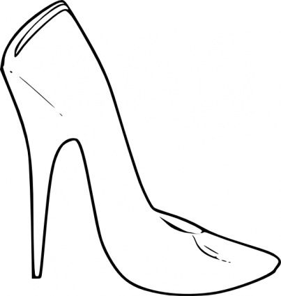 High Heel Shoes Coloring Pages Shoe Template Shoe Clips Shoes