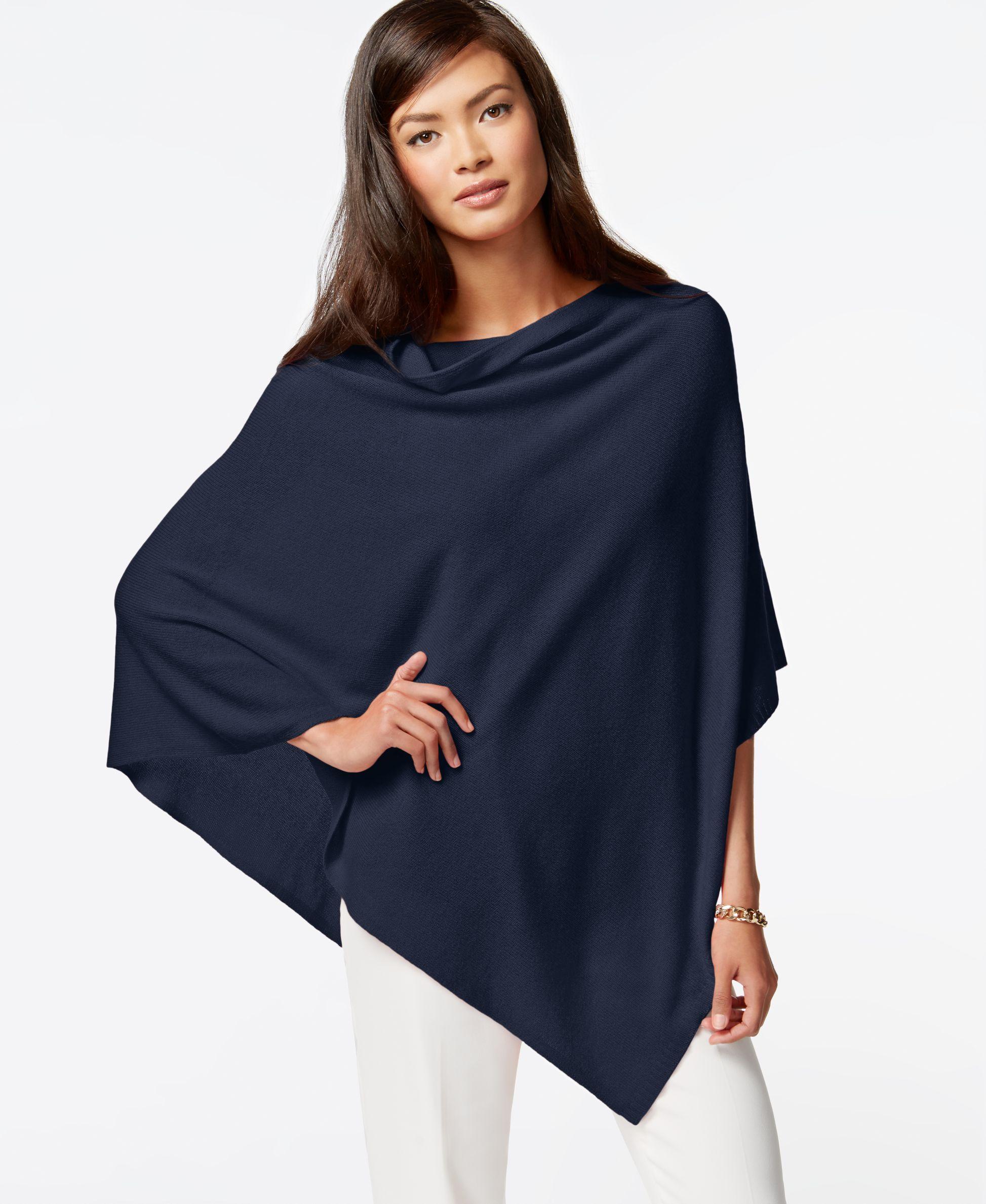 da3ff00ab Charter Club Cashmere Poncho Sweater   Products   Cashmere poncho ...