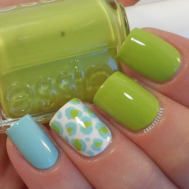 Cute cute cute! Essie The More The Merrier and Mint Candy Apple ...