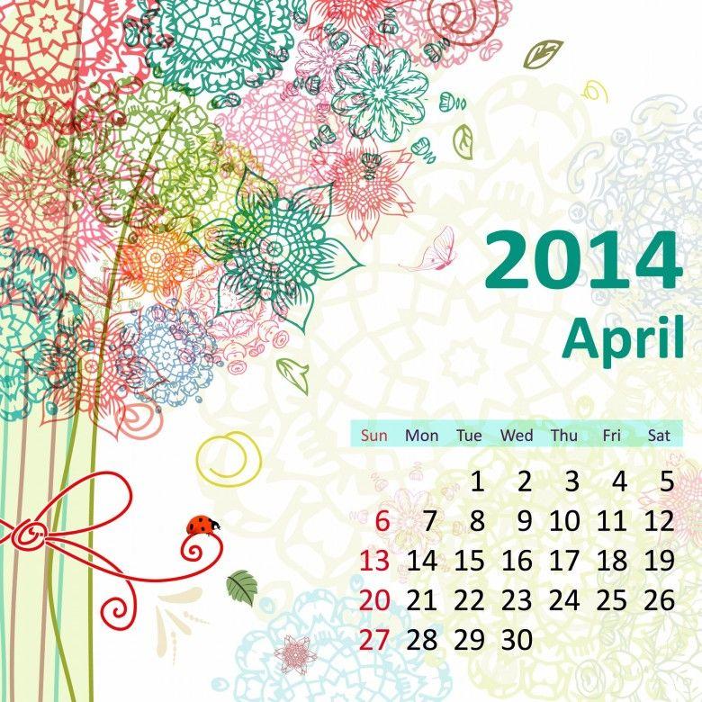 2014 Calendar. all Months [12 JPEGs]