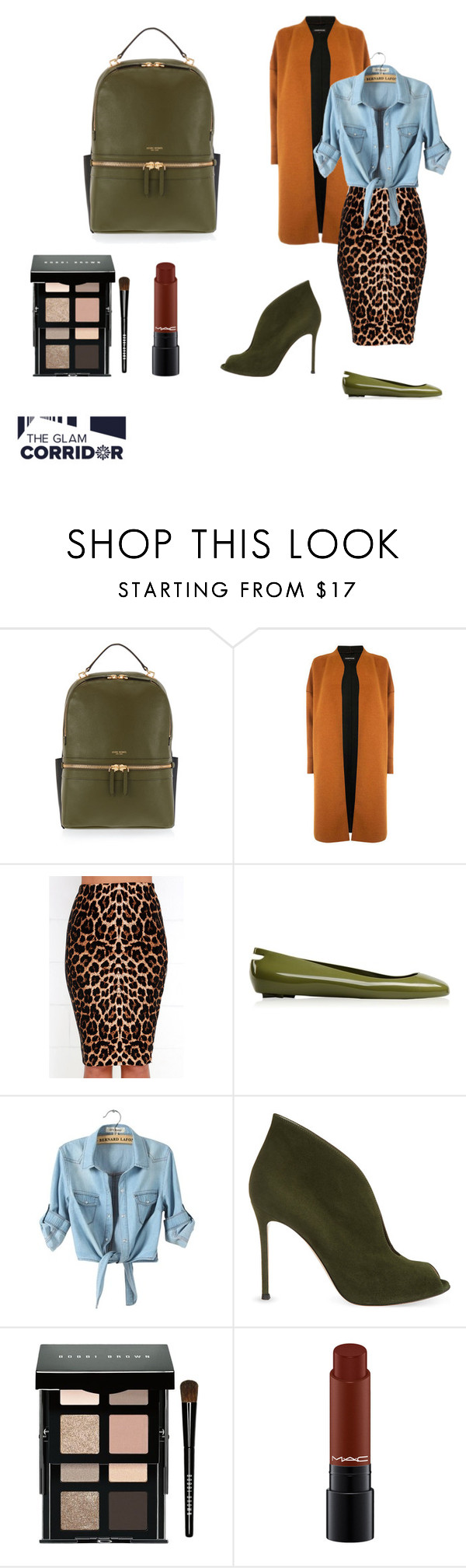 """Backpacking"" by theglamcorridor ❤ liked on Polyvore featuring Henri Bendel, Warehouse, Kartell, Gianvito Rossi and Bobbi Brown Cosmetics"
