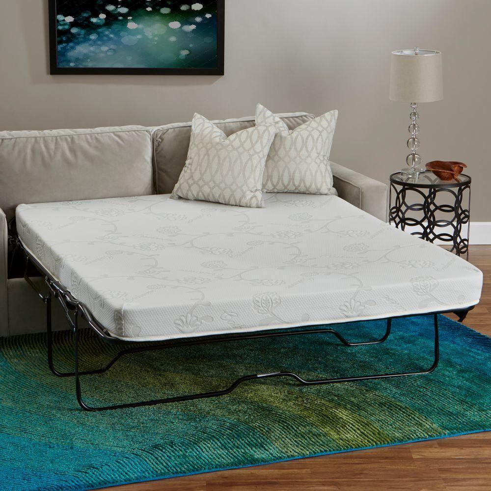52 in. W x 72 in. L FullSize High Density Foam Sofa