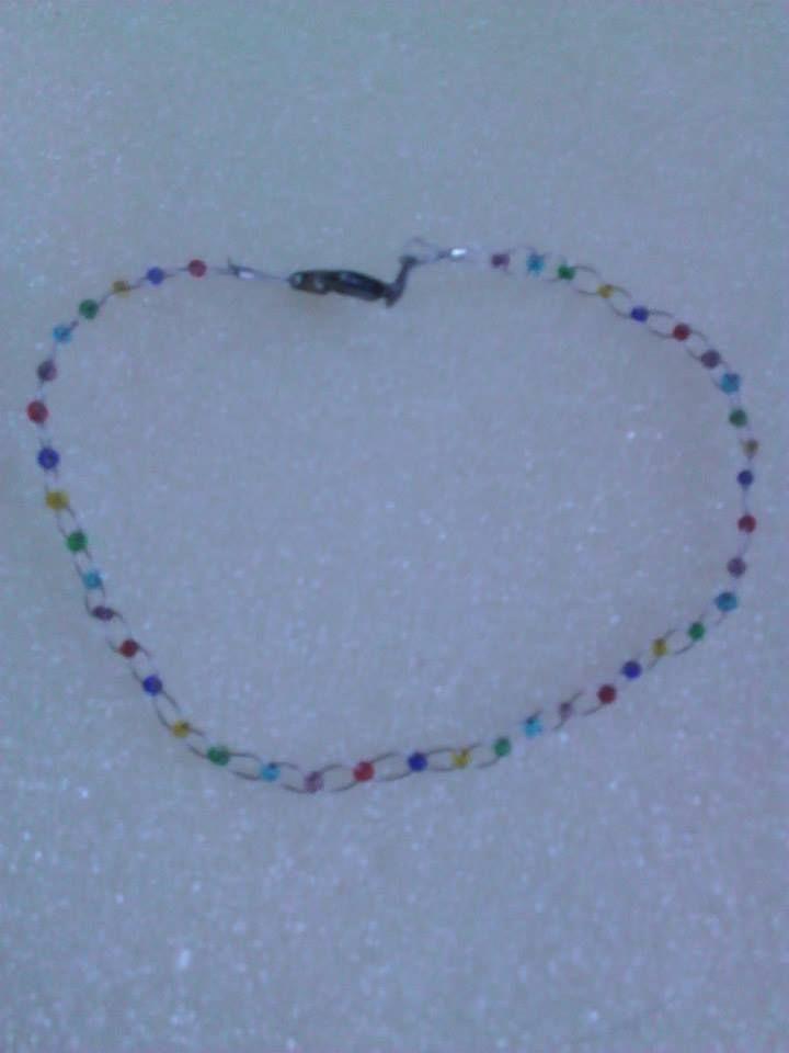 Rainbow wire bracelet/anklet