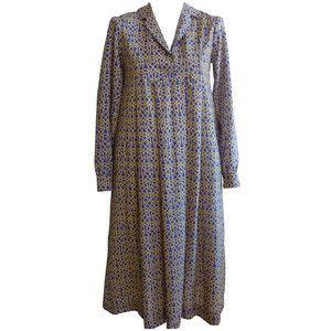 Preowned 1970s Liberty Of London Boho Wool Dress