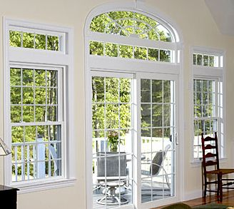 Patio doors sliding patio doors with fixed transom for Double hung french patio doors