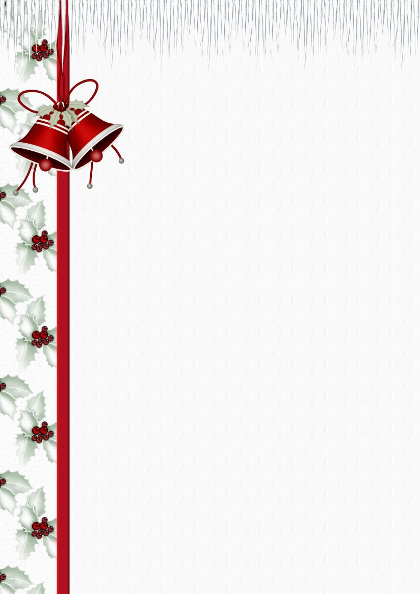 Christmas Paper Template Christmas Letterhead Templates For Word  Christmas Word Document Template