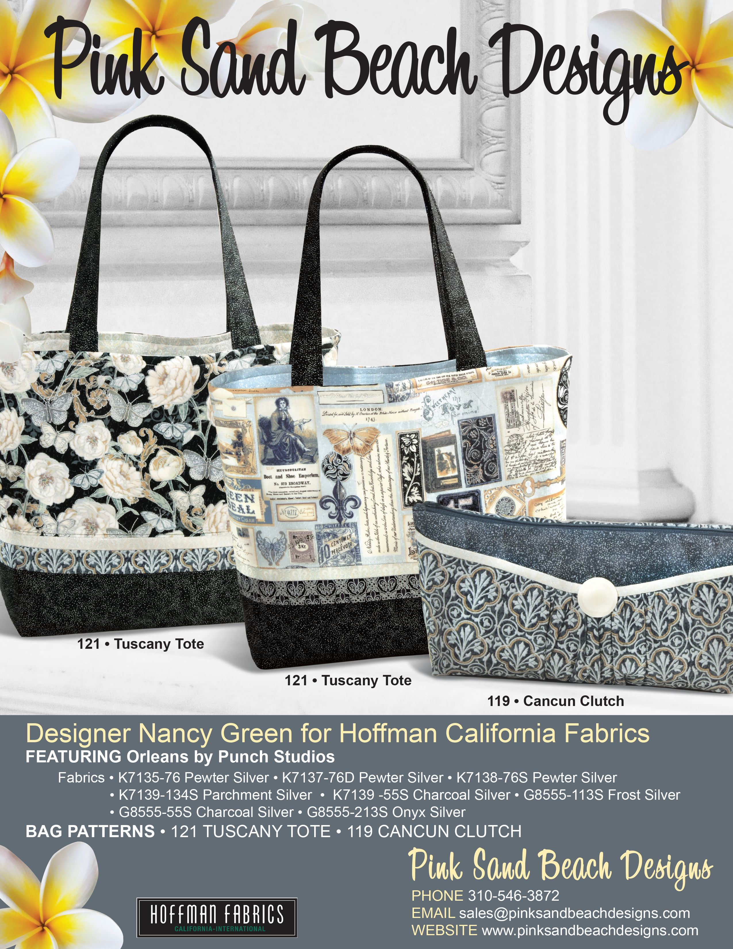 pink sand beach designs purse patterns tuscany tote and cancun clutch featuring orleans by punch