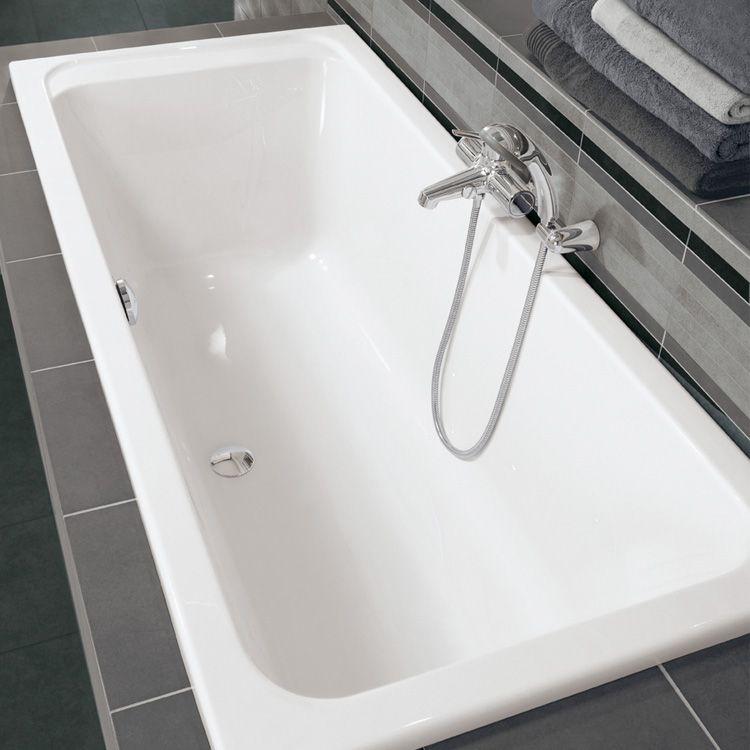 Villeroy \ Boch Architectura Duo Rechteck Badewanne weiß mit - villeroy und boch armaturen küche