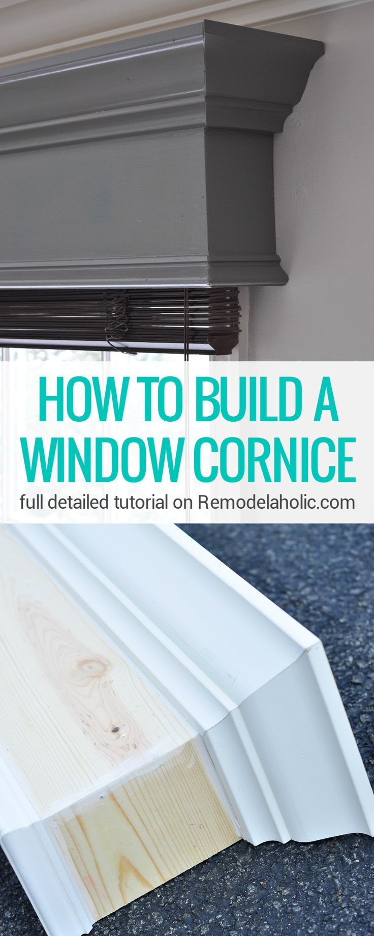 This DIY window cornice gives windows a MAJOR new look Full ...