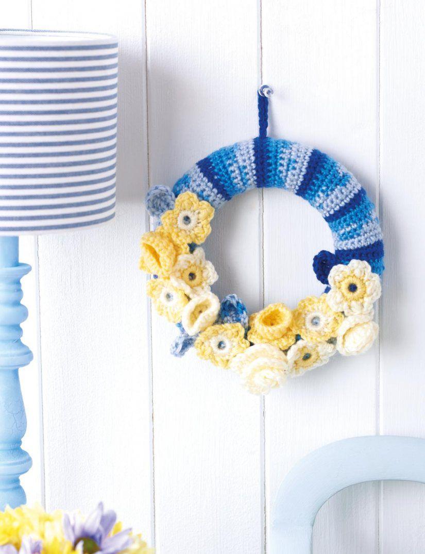 Photo of FREE CROCHET PATTERN: Flower Crochet Wreath pinterest.com ✿◕ ‿ ◕✿.Viv …