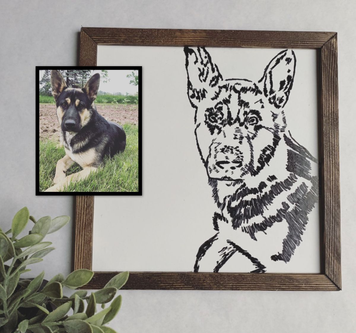 Personalized Pet Portrait, Customize, Pet Portrait, Dog