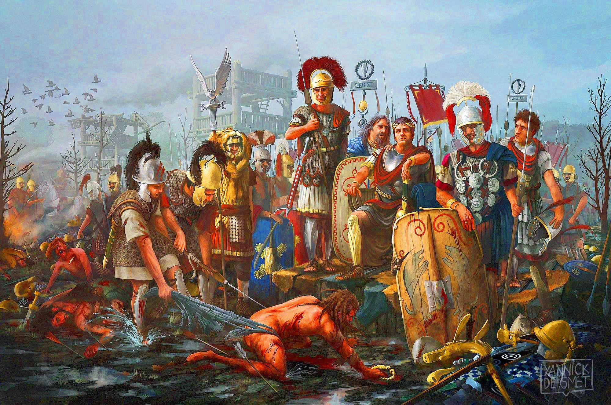 Julius Caesar Humiliates A Defeated Gallic Chief During