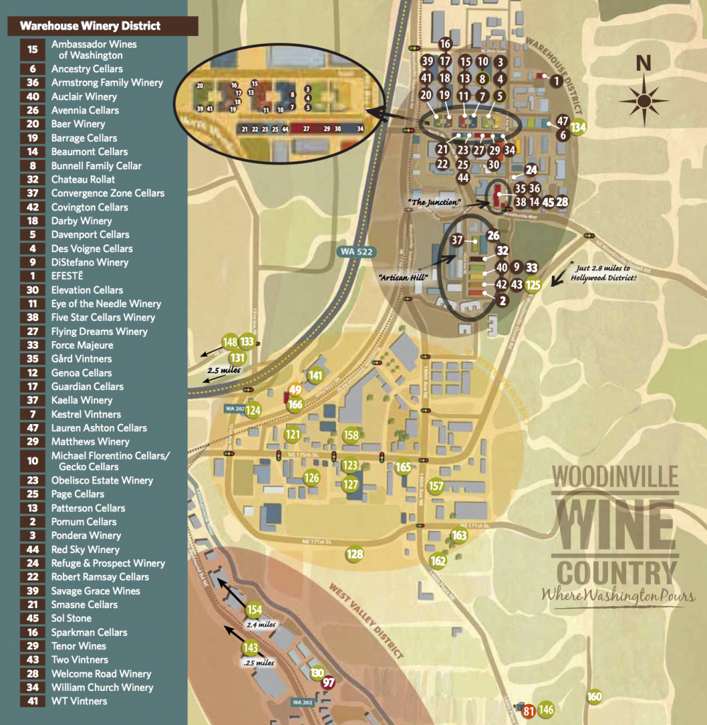woodinville wine country warehouse map 2015 what s is seattle