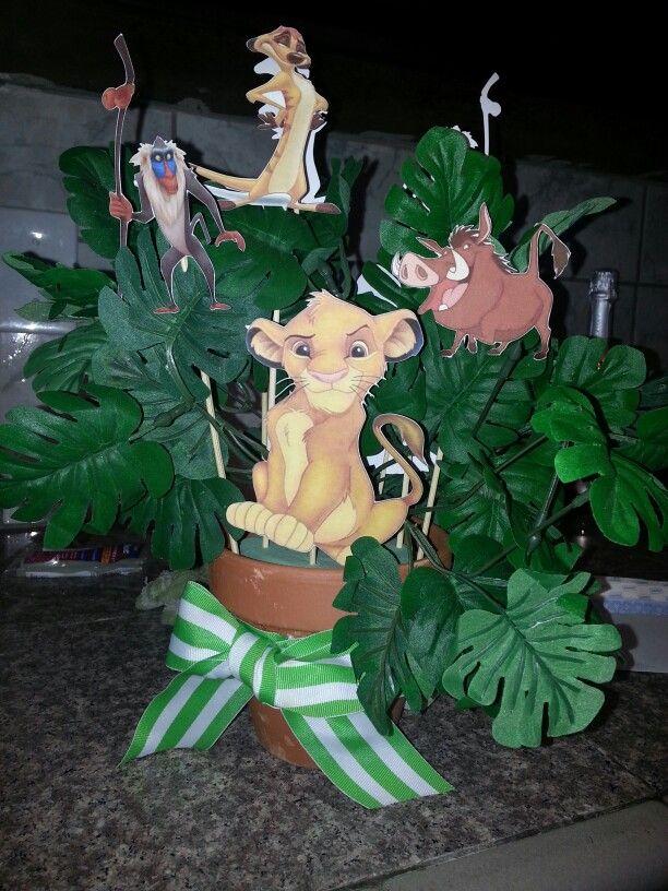 lion king baby shower center piece