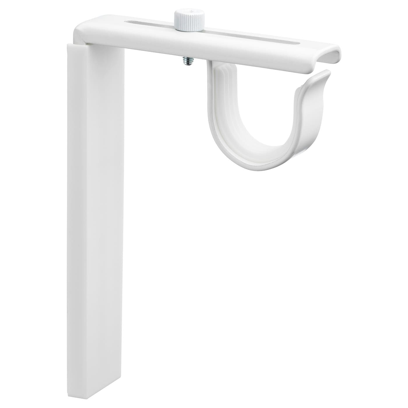 Windoware White Pvc Curtain Rod Bracket 2 Pack Curtain Rods