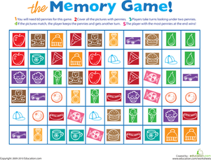 picture about Printable Memory Game titled Printable Memory Recreation infant pursuits Printable board