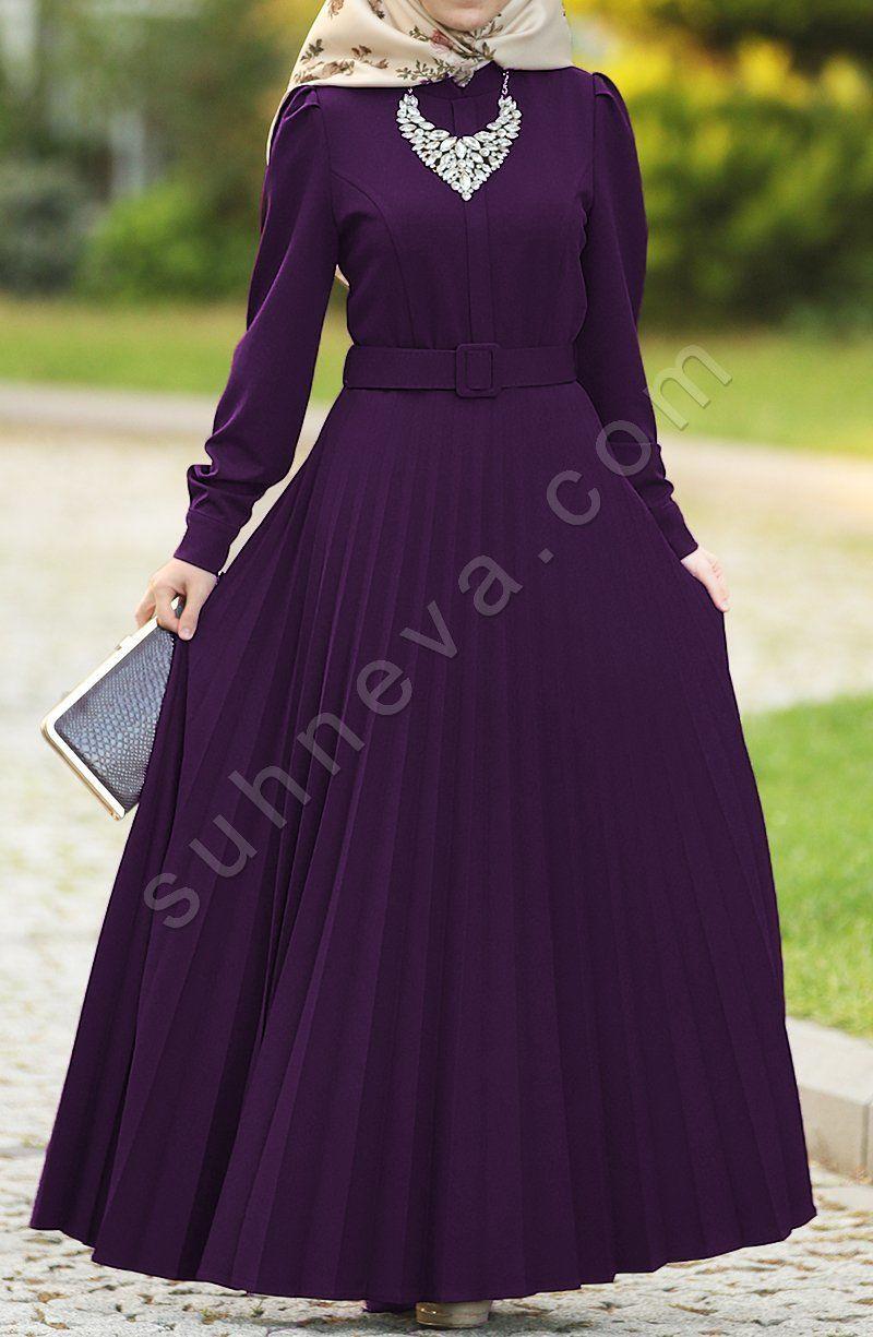 Piliseli Armagan Elbise Mor Tesettur Elbise Abiye Suhneva Elbise Modelleri The Dress Elbise