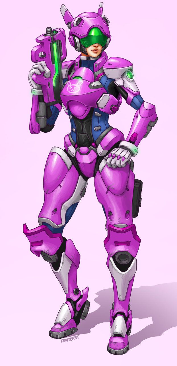 D Va Full Meka Armor By Https Www Deviantart Com Fonteart On Deviantart Overwatch Fan Art Armor Overwatch