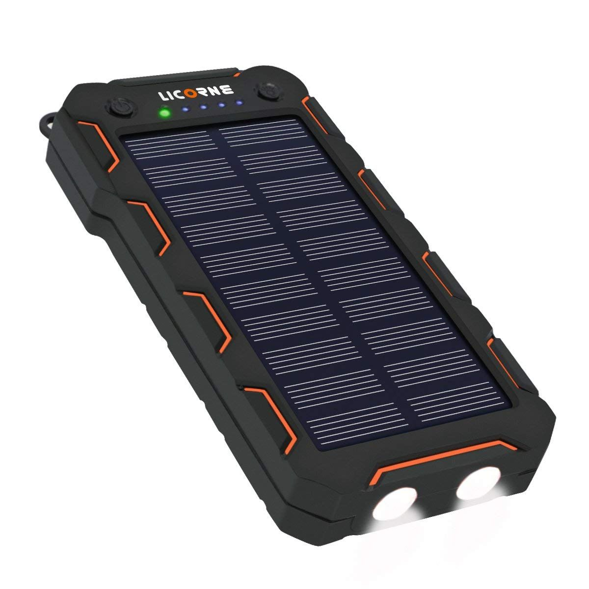 Solar Chargers 15000mah Portable Solar Power Bank High Efficiency Sunpower Cellphone Chargers Ra Solar Panel Charger Solar Battery Charger Portable Solar Power