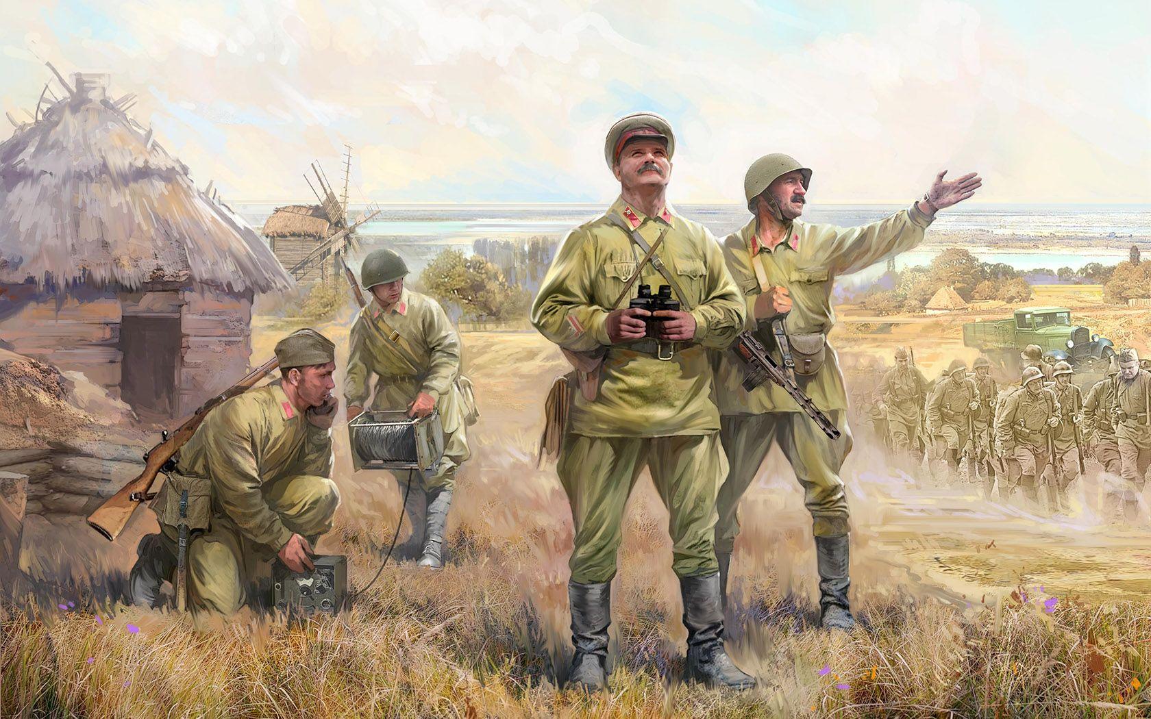 рисунок Советский штаб