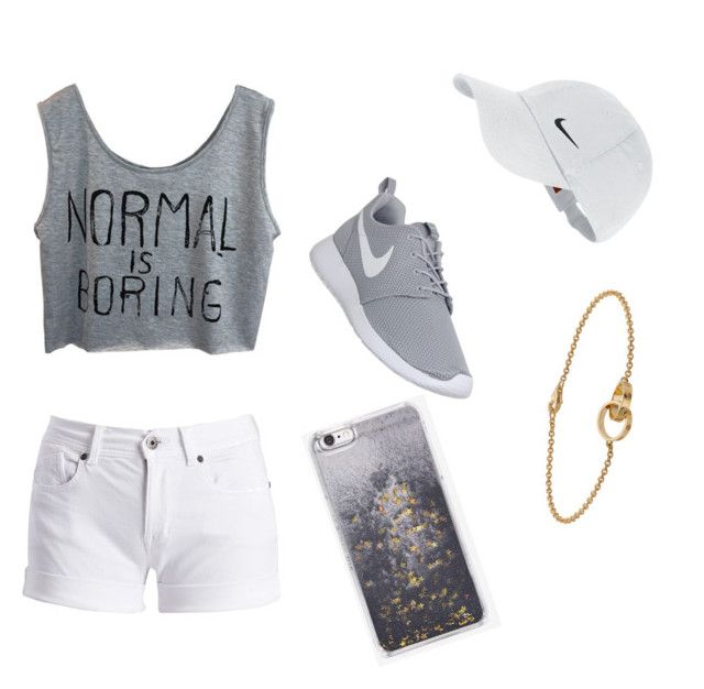 """Normal is boring✋"" by love-emilyyyy on Polyvore featuring Barbour International, NIKE, Cartier and Skinnydip"