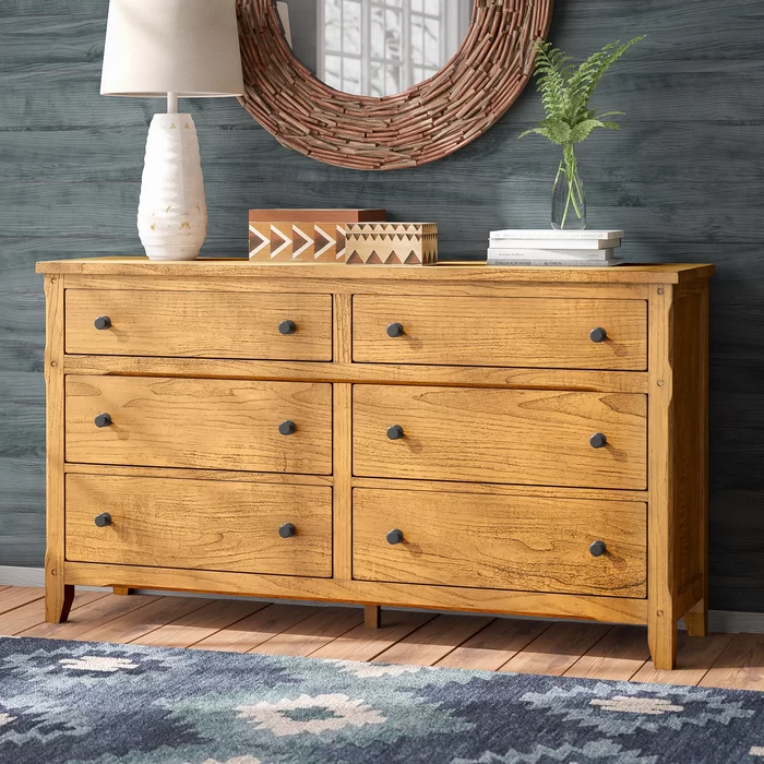 Loon Peak Fresno 6 Drawer Double Dresser Wayfair Ca Double Dresser Bedroom Collections Furniture Dresser