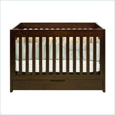 Babyletto Mercer 3 in 1 Convertible Wood Crib in Espresso - M6801Q