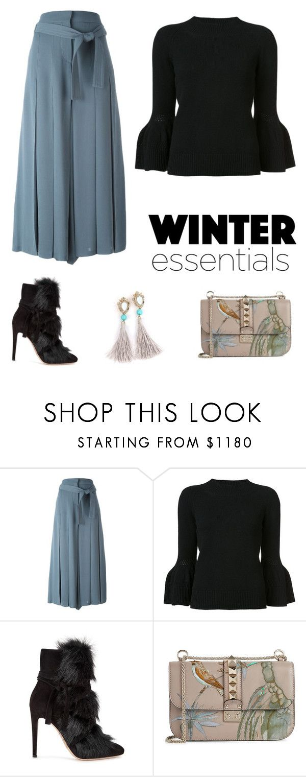 """Untitled #326"" by evanoora on Polyvore featuring Valentino, Carolina Herrera and Gianvito Rossi"