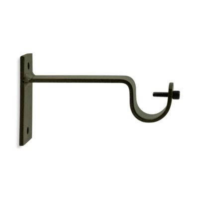Buy North Branch Single Window Curtain Bracket In Antique Brass
