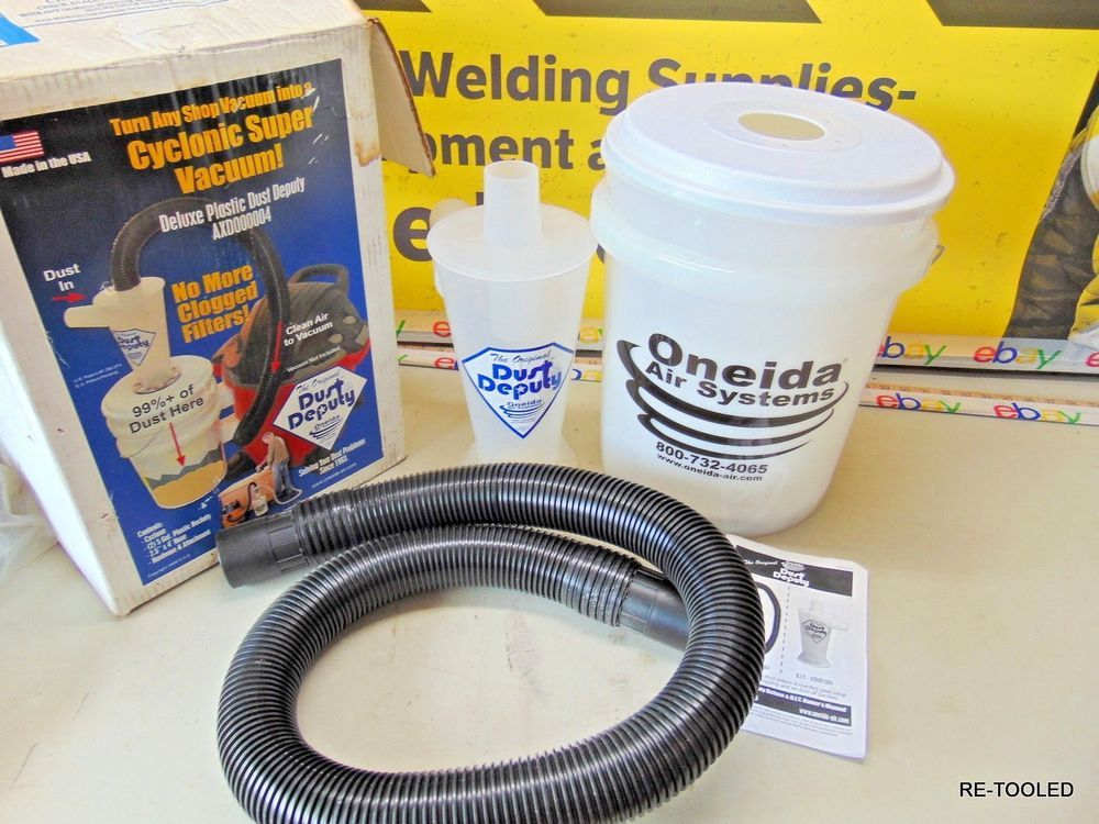 Oneida Air Systems Dust Deputy Deluxe Wet//Dry Vac Cyclone Separator Kit 2 in Dia