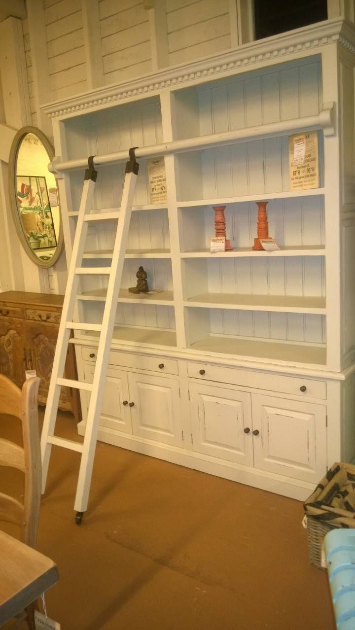 Bookcase home library with sliding ladder brambles furniture