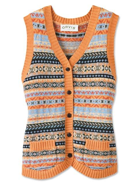 Just found this Womens Sweater Vest - Fair Isle Sweater Vest ...
