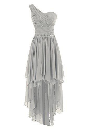 Sunvary One Shoulder High Low Chiffon Bridesmaid Dresses Homecoming Gowns for Juniors Prom Evening Dress US Size 4- Silver Sunvary http://www.amazon.com/dp/B00M3TD9X6/ref=cm_sw_r_pi_dp_6.5aub1DYY5BS