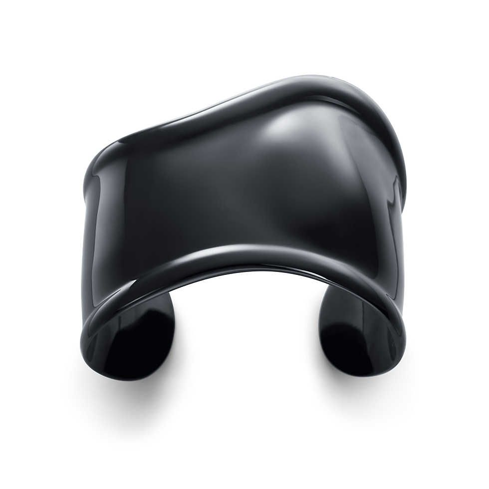 It's like wearing a piece of art on my wrist. // Elsa Peretti® black Bone cuff, small, right wrist.   Tiffany & Co.