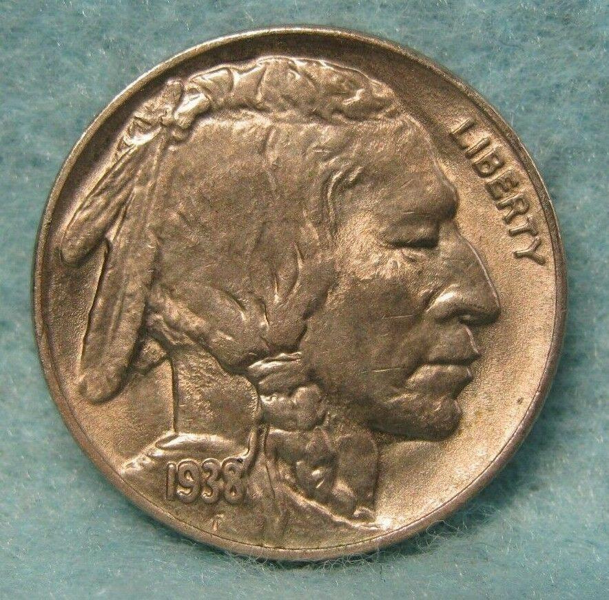1938-D BUFFALO NICKEL CHOICE AU-BU * US Coin #3243 | U  S  Coins and