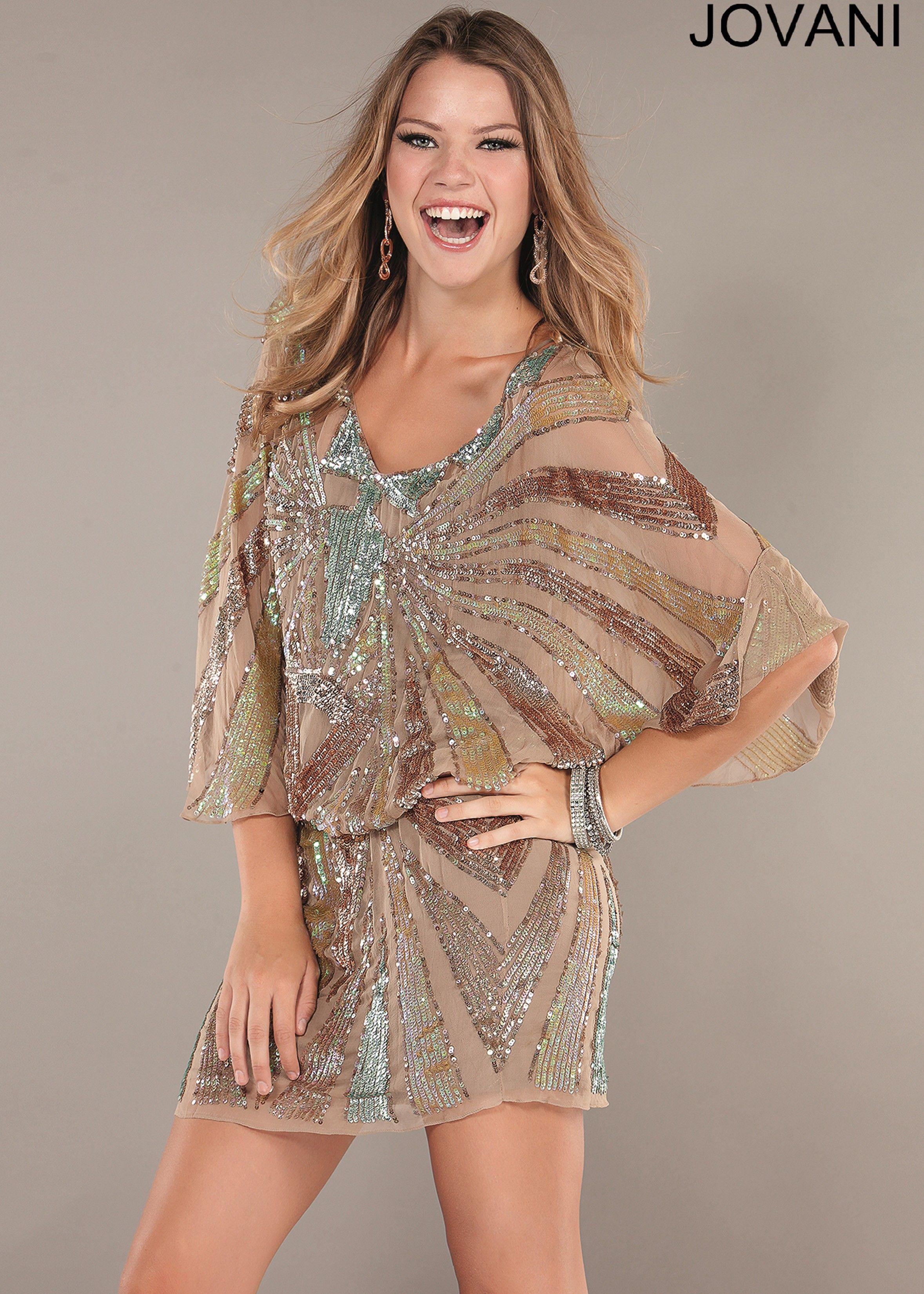 Jovani 1521 Brown Cocktail Dress from rissyroos.com | Dresses ...
