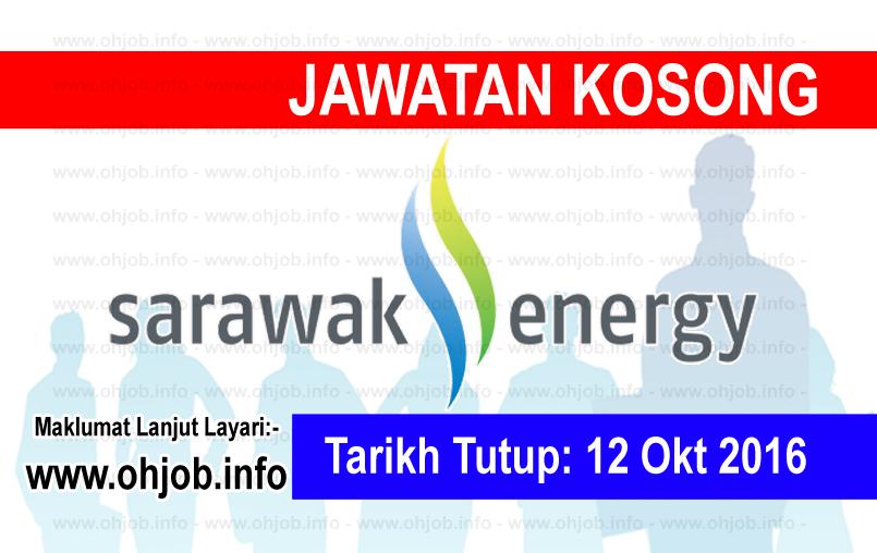 Jawatan Kosong Sarawak Energy (12 Oktober 2016) Kerja