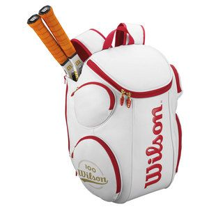 Wilson 100 Year Tour Large Tennis Backpack White And Red Tennis Backpack Large Backpack Tennis Bag
