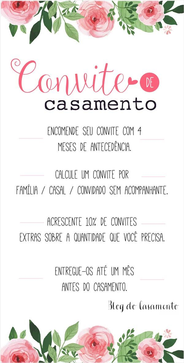 3 motivos para não fechar o convite de casamento com muita antecedência | http://www.blogdocasamento.com.br