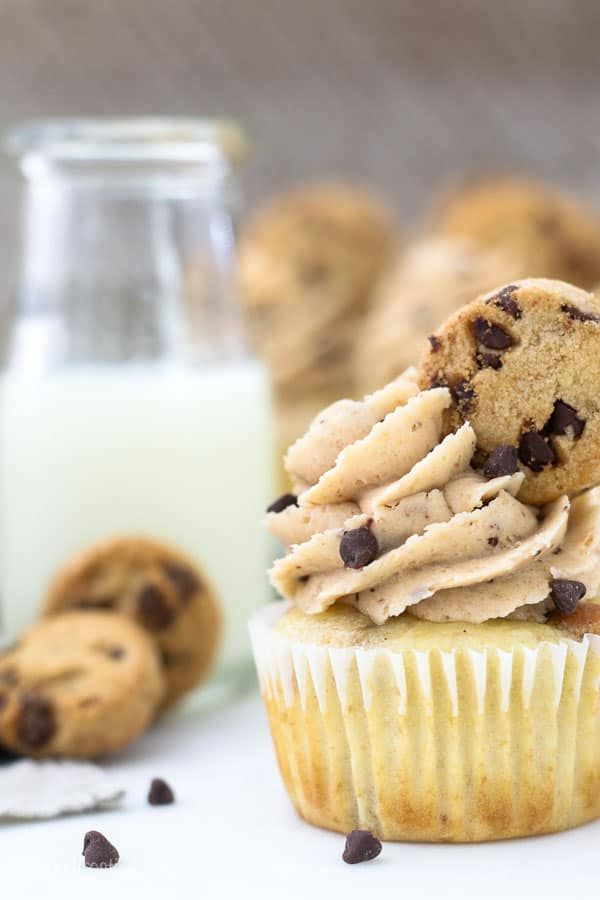 Chocolate Chip Cookie Dough Cupcakes   Teaspoon of Goodness