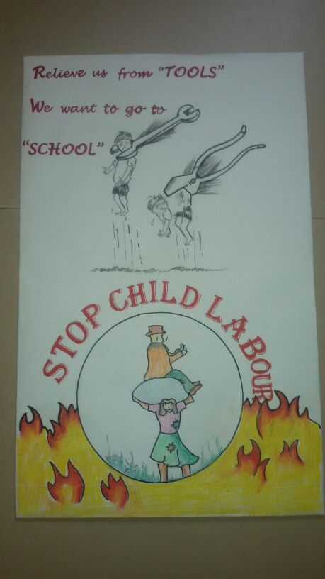 Child Labour Handmade Poster Poster Drawing Kids Poster