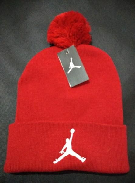 7fc81962152 Mens   Womens Air Jordan USA Top Selling White Classic Jumpman Embroidery  Cuffed Knit Pom Beanie Cap - Red