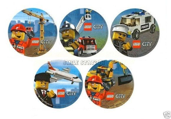 10 Lego City Stickers Kid Reward Party Goody Loot Bag Filler Favor Supply Treat