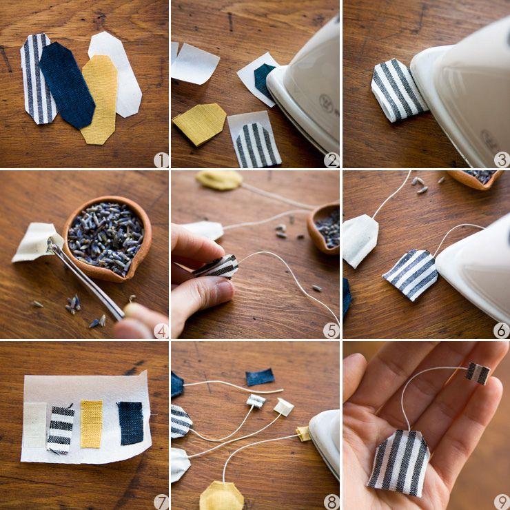 DIY: miniature tea bag shaped sachet | Craft & DIY ...