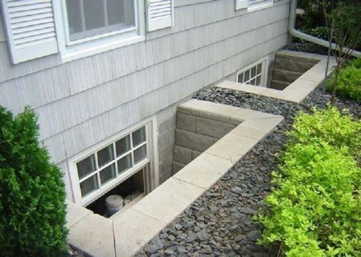 Basement basement window wells